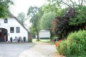 links Haus Bungt, rechts hinten Nautilheim - Bild 22: NAUTILheim-Jadebusen.de strandnah/Halbinsel Butjadingen/im Grünen/WLAN/Hund